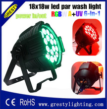 dimming dmx stage waterproof 18pcs rgbwaUV led par wash light 6in1
