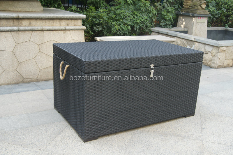 Garden Furniture With Storage cushion box / anti-uv storage box wicker rattan outdoor garden