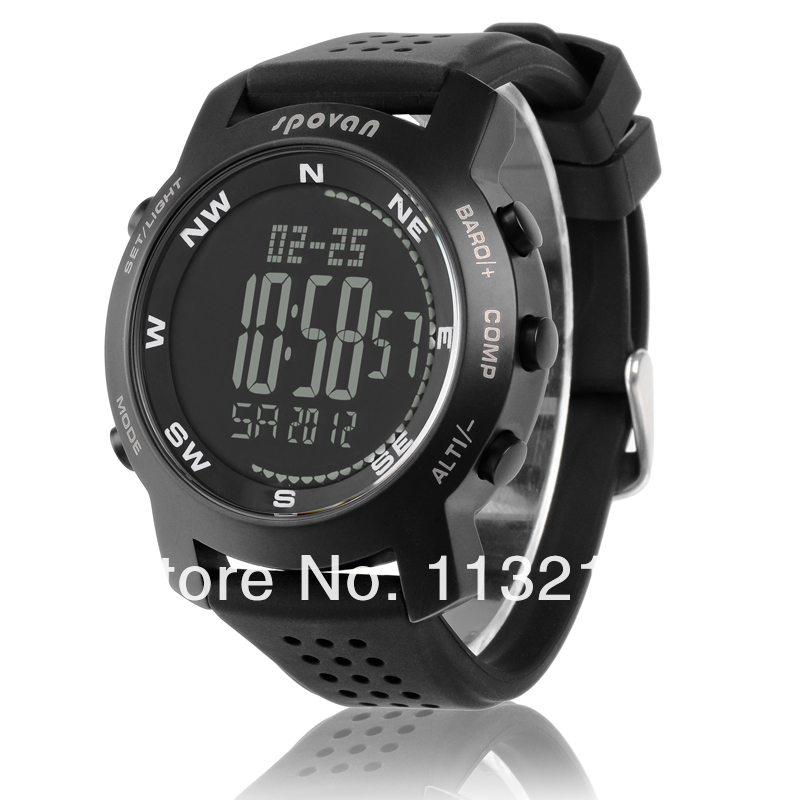 The pop camping equipment ,digital watch Compass barometer altimeter for man