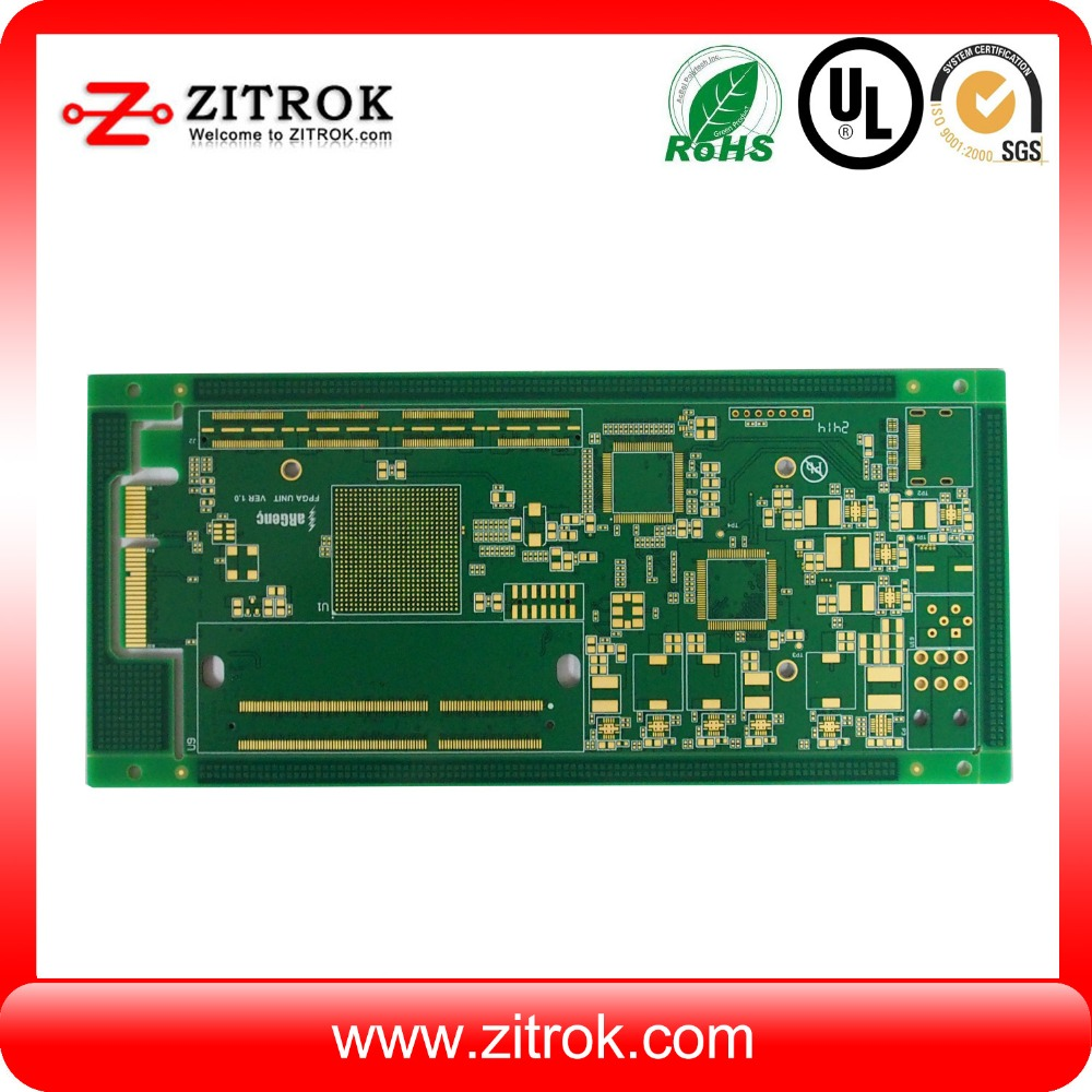 1.6mm Thickness 8 Layer Security System 94v0 Pcb Board Fabrication With Rohs