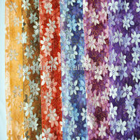 100% polyester paillette embroidered tulle fabric