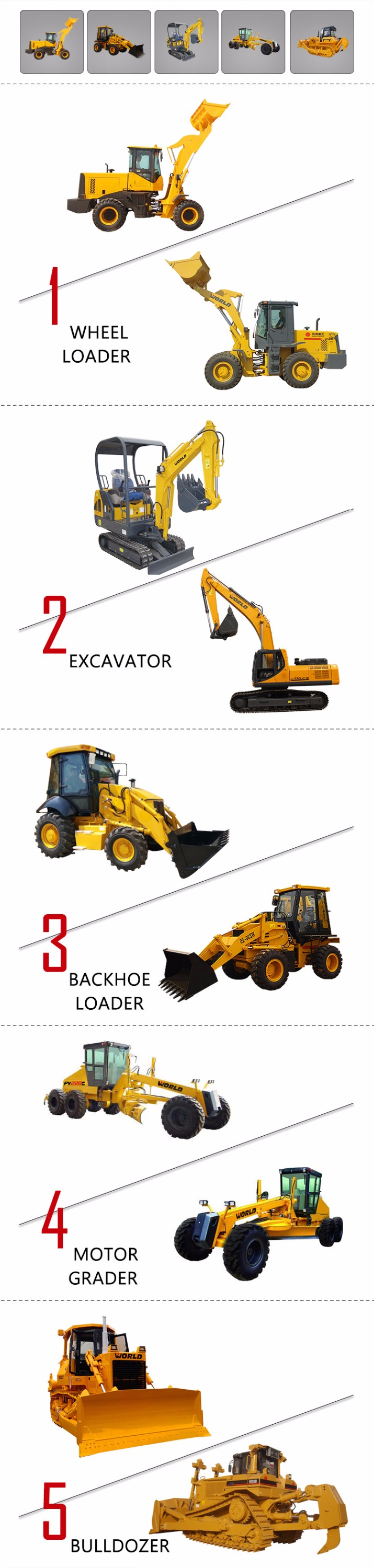 Various oem tracked bulldozers