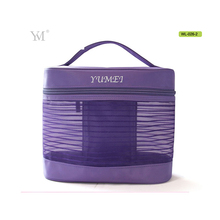 10 year supplier natural trendy purple cosmetic makeup bag for travel trolley