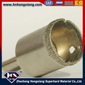Electroplated diamond core bit for glass drilling