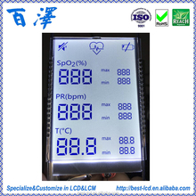 Factory Manufacture Alphanumeric Monochrome Custom Size 7 Segment LCD display