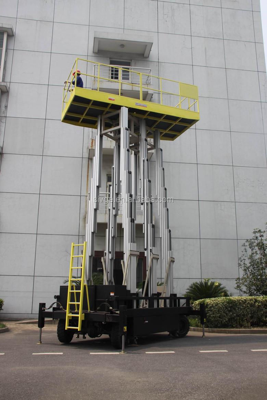 Six mast self propelled aerial work platform buy aerial for Large motorized rotating platform