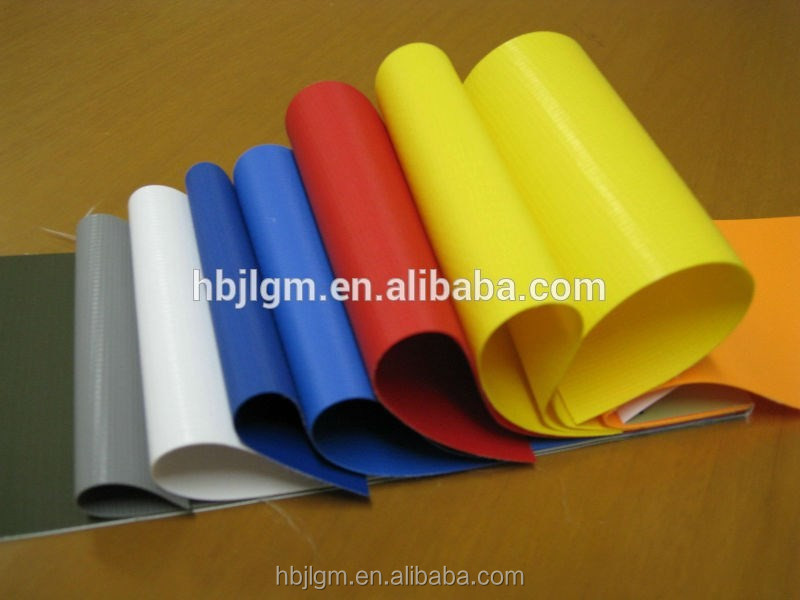 100% waterproof roofing cover tarpaulin 650G matte surface pvc coated tarpaulin