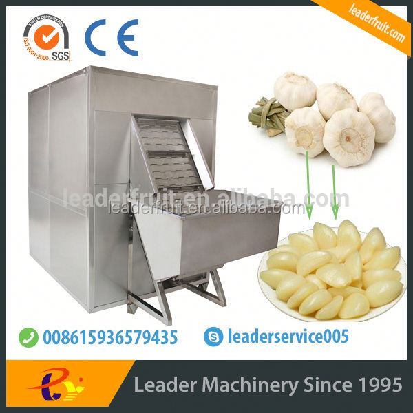 Leader garlic dry peeling machine/ginger/garlic peeler accept paypal
