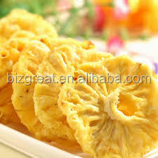 We are supplying the Frozen dried pineapple ring