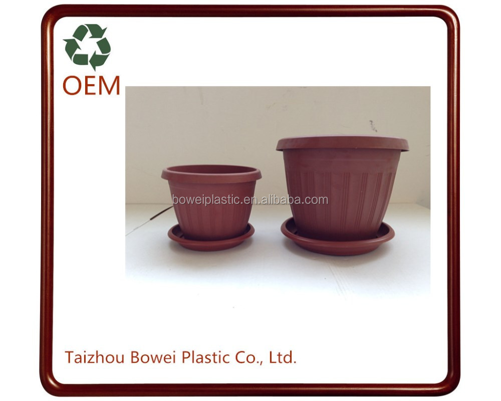 Recycled Plastic Flower Pots/Small Clay Flower Pots/Cheap Flower Pots