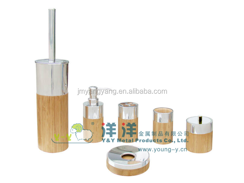 Bamboo Stainless Steel Bathroom Accessories Sets Buy Bamboo Stainless Steel Bathroom