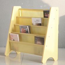Wholesale magazine storage cabinet 5 ladder custom non-woven wooden book shelf for kids TYKBC130