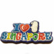 Singapore souvenirs rubber magnet , city name magnet , cute cartoon magnet fridge magnet