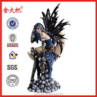 Popular Polyresin hot sexy fairy for home decoration&Resin sexy fairy statue
