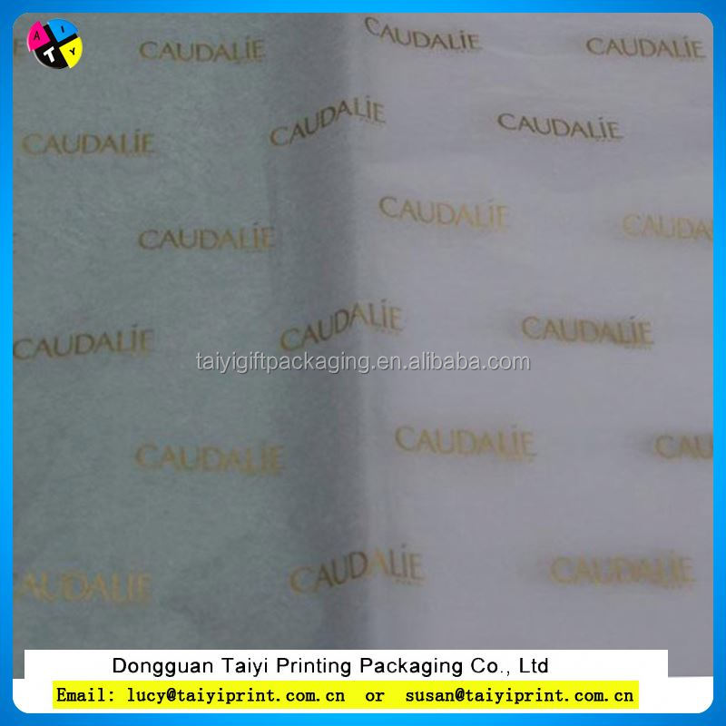 customized printed gold metallic lamination gift wrapping tissue paper