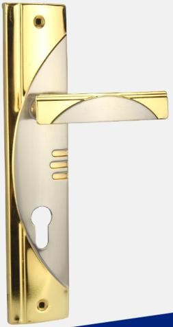India Market Iron door handle gold plated set lock made in china