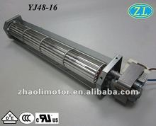 220V fan motor ac electric motor YJ48-16 with motor specifications: shaded pole motor for fireplace, oven, fan heater