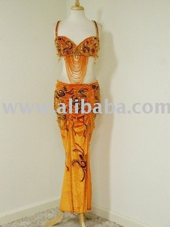 Orange Sexy Belly Dance Costume