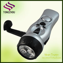 Emergency dynamo hand crank flashlight radio