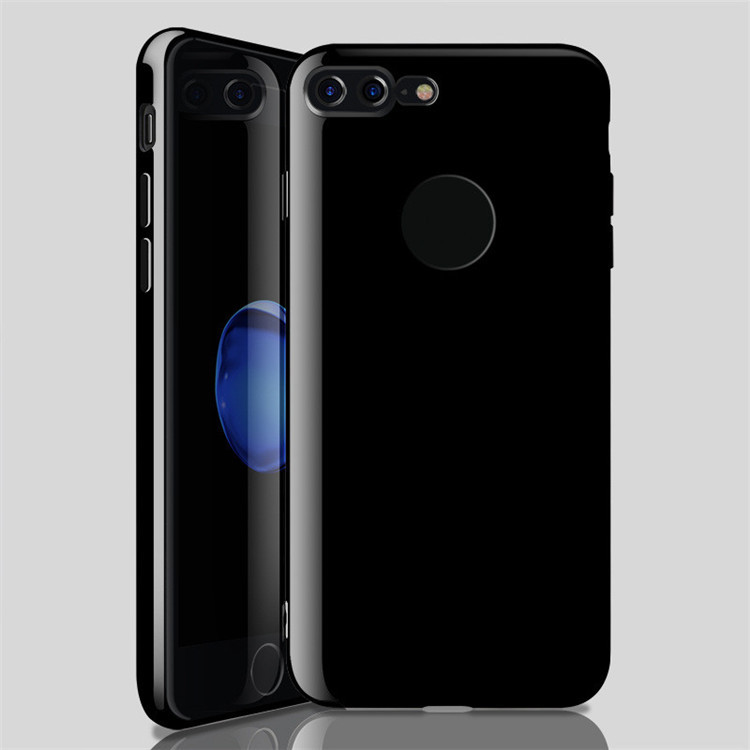 Bright Black TPU Gel Phone Case For Apple iPhone7 /7Plus Back Cover Silicone Case