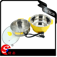 electric stainless steel 3 piece multi-cookware set electric food steamer