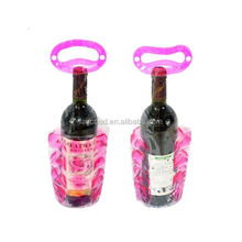 Single PVC gel icel wine cooler bag