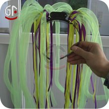 Wholesale Imprintables Factory Price Colorful Flashing Hair Noodle