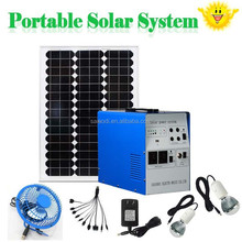 Portable solar system for home use 200W 300W 500W solar panel kit