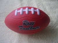 12.5cm red America football stress balls