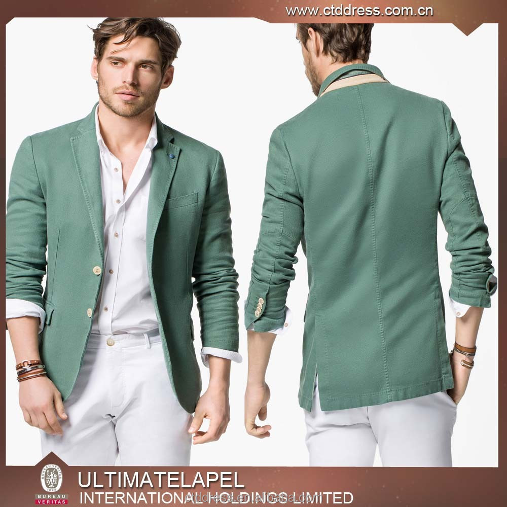 2015 Top Quality Mens Linen Green Blazers For Men - Buy Blazers ...