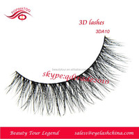 Natural long crisscross 3D Fake Mink eyelash Silk Eyelash 3DA10