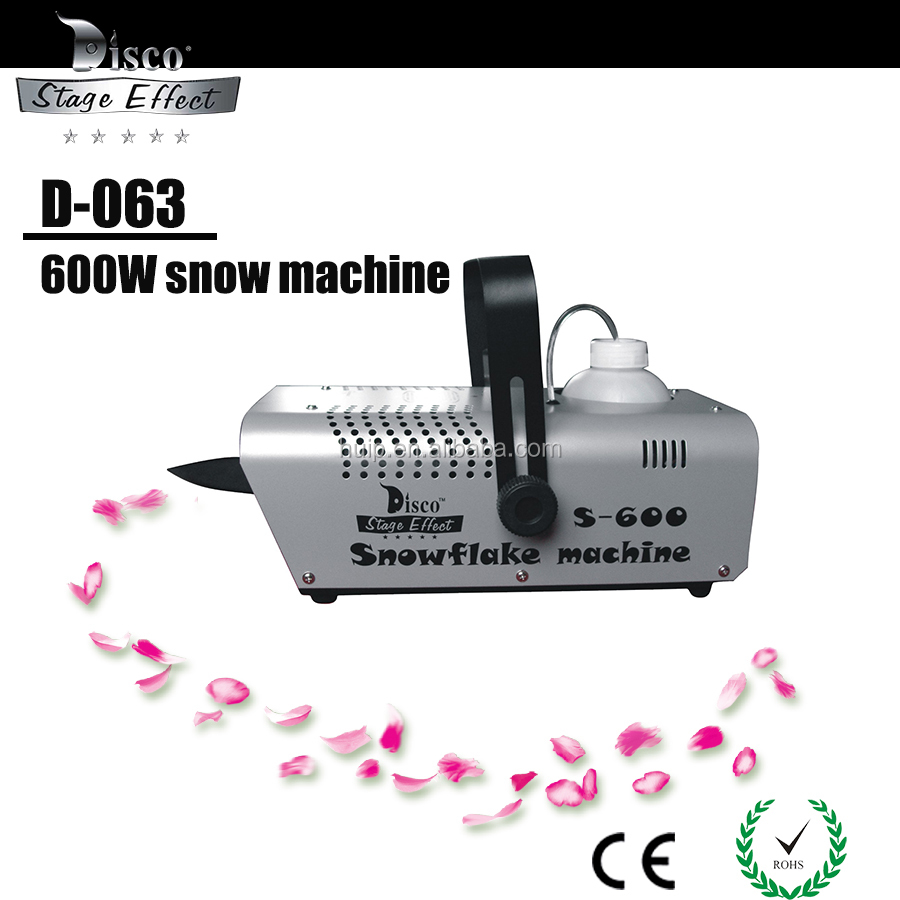 D-063 S-600W snow machine can be have the snowflame on the full place