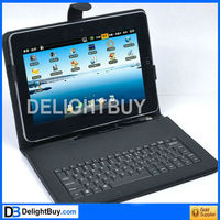 10'' 10 inch USB 2.0 Leather Keyboard Case Cover for Android Tablet ePad uPad