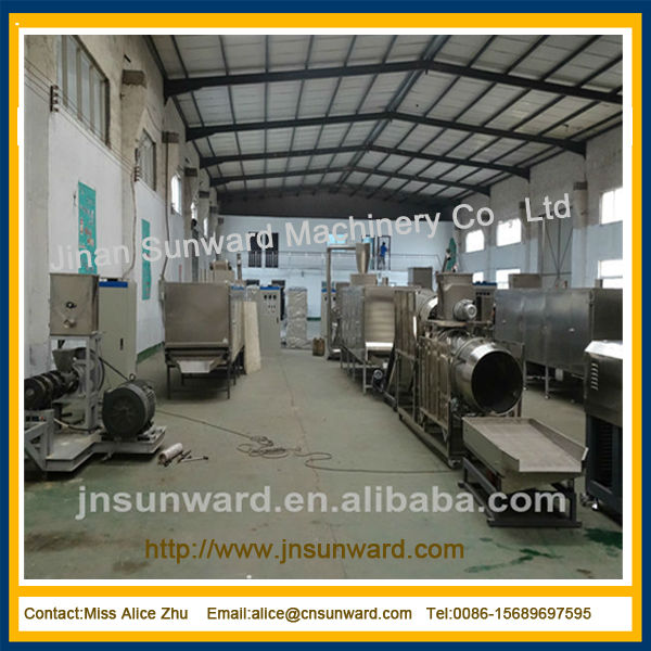 China automatic extrusion breakfast flakes food maker, breakfast cereal machine