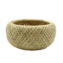 Japanese style handicrafts small bamboo basket no handle