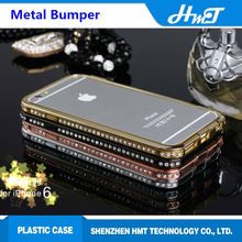 hot sale and factory price luxury metal crystal bumper mobile phone case for iPhone 6 for other brand cellphones