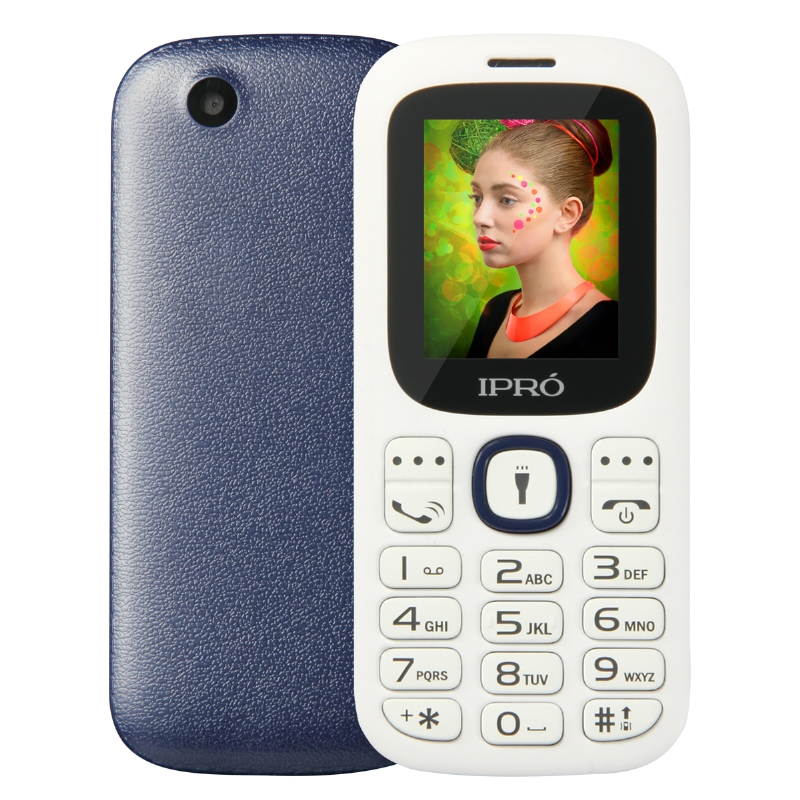 High Quality Custom Logo IPRO 1.77 inch 2g feature phone cheap china handphone 800 mAh MP3 MP4 torch in stock