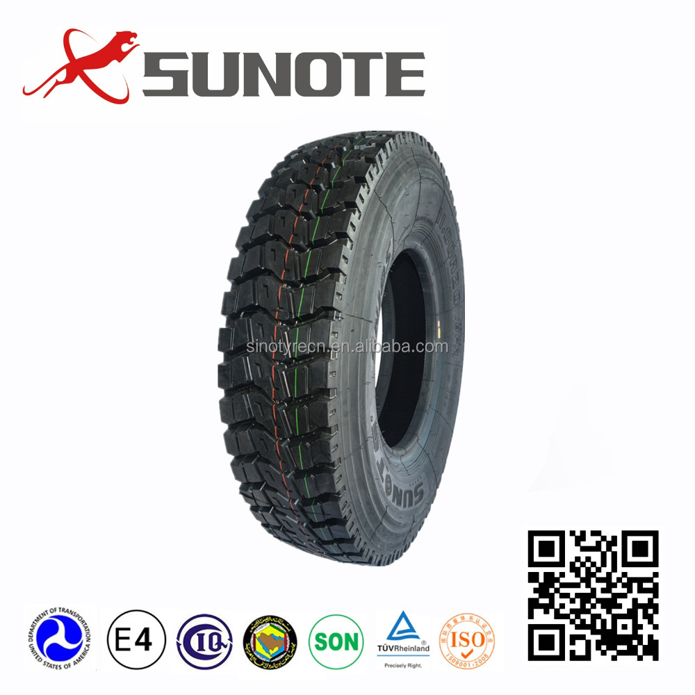 sunote radial 1000-20 1100r20 1200r20 315/80r22.5 truck tyres for sale