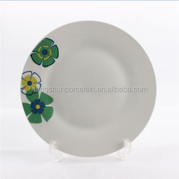 Manufacturer sales ceramic decor dish with cut decal printing