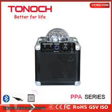 Professional TONOCH Stereo mini wireless bluetooth speaker with LED disco lights