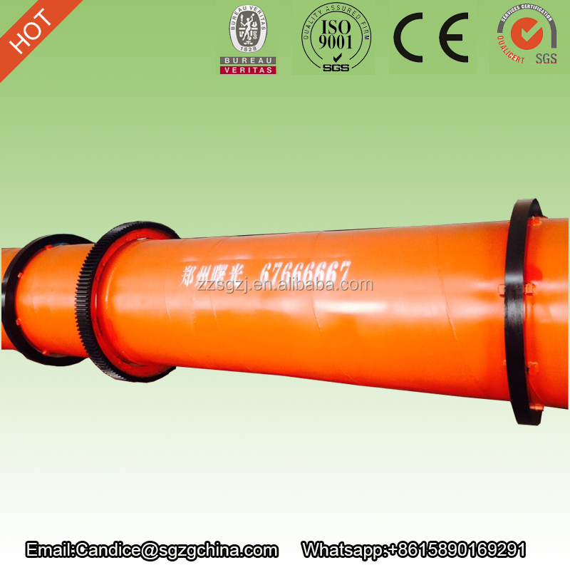 Reasonable price factory sale caly/sand/clay/slag rotary drum dryer for fertilizer