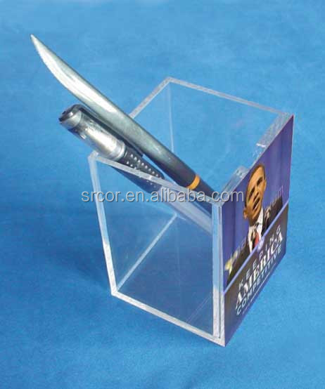 upright acrylic decorative pen holder