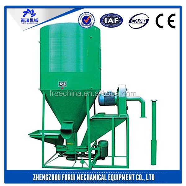 Hight-efficiency automatic mixing machine animal feed/Vertical feed processing machine/mixer for pig feed