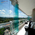 High end Australian standards AS2047 security glass accordion doors bi folding doors