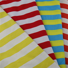 cheap price polyester knit yarn dyed stripe jersey fabric for fashion lady garment
