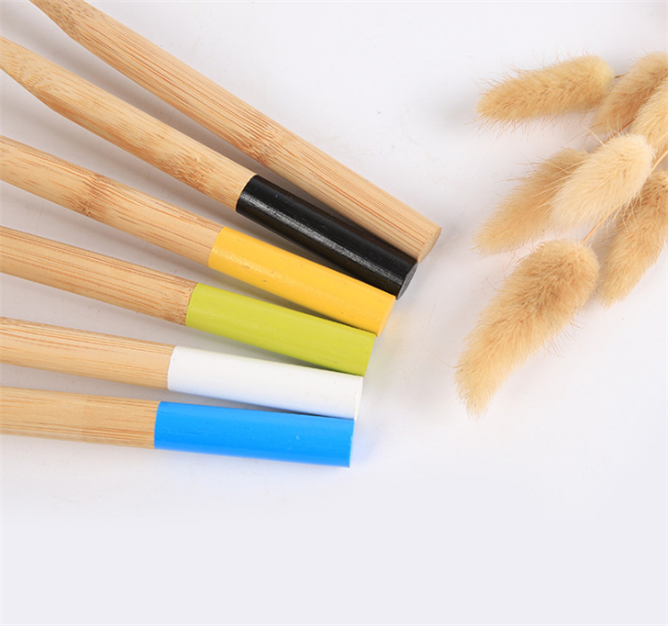 100% biodegradable round handle personalized bamboo toothbrush