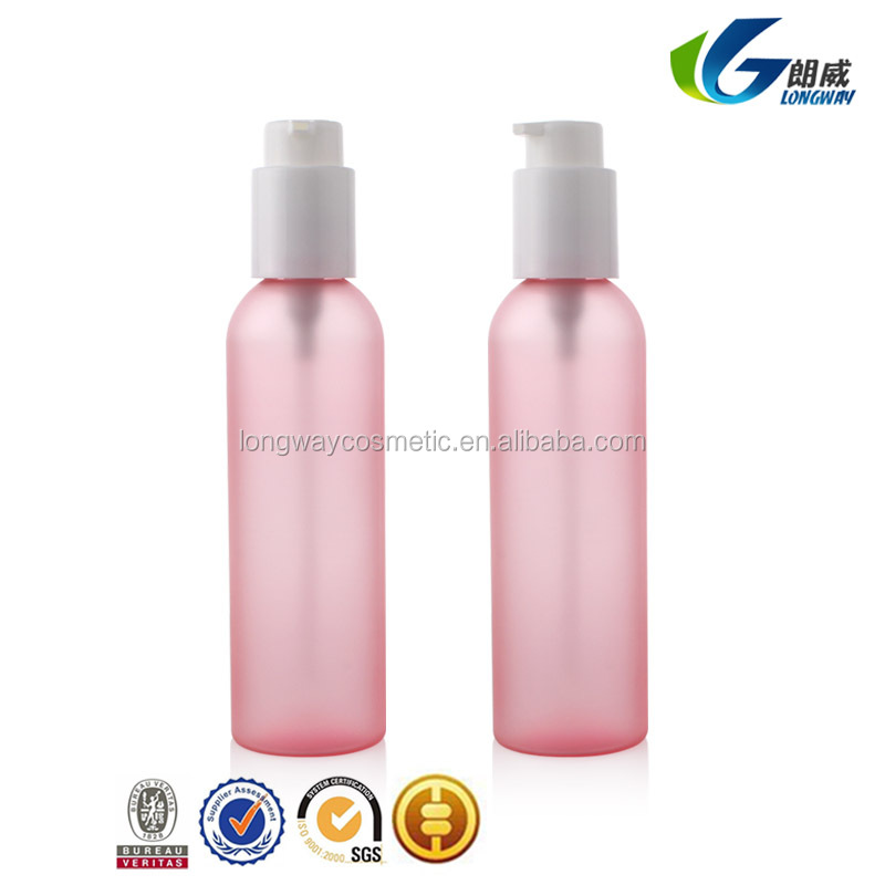 150ml Plastic Lotion Pump Bottle Round Shape Cosmetic Bottle Frosted Luxury Packaging Twist and Lock Pump100ml/120ml/150ml/200ml