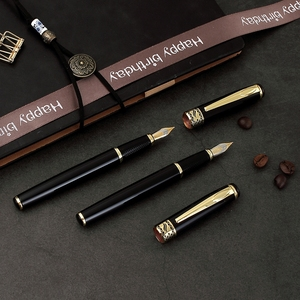 Deluxe best quality metal brand custom logo fountain pen for company