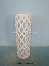 Home decorative ceramic pierced flower vase