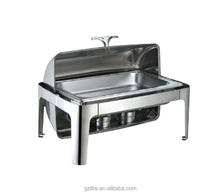 9L Stainless Steel Rectangle Roll Top Chafing Dish
